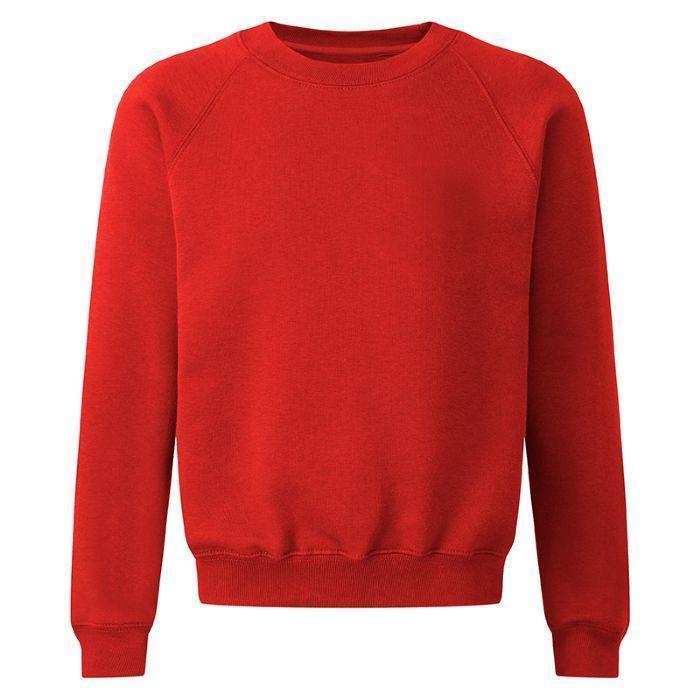 Детский школьный свитшот School Trends (Англия), Красный, размер 134-140 см