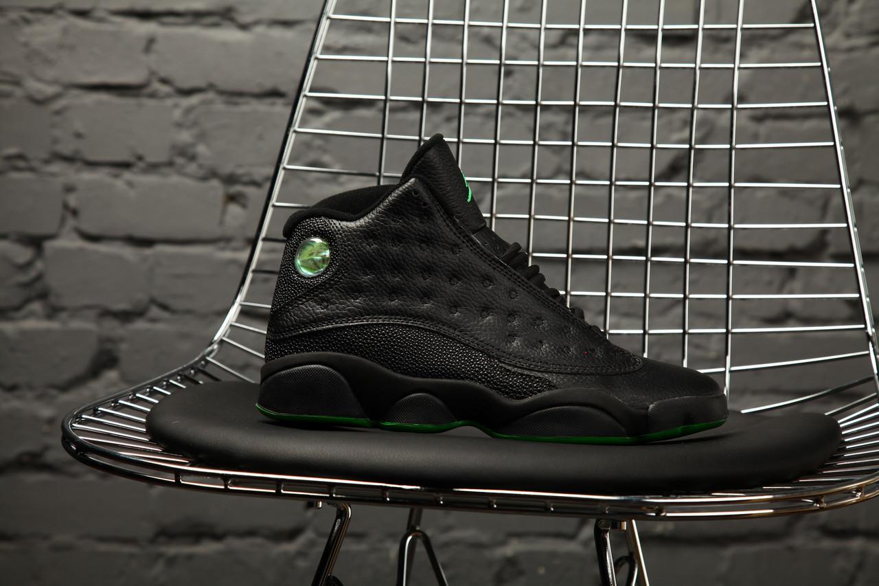 Мужские высокие кроссовки Nike Air Jordan 13 altitude green (найк эир  джордан, реплика) cc3d963f802