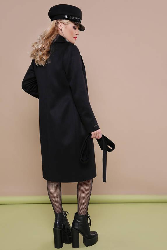 Классическое шерстяное пальто весна осень черное , фото 2