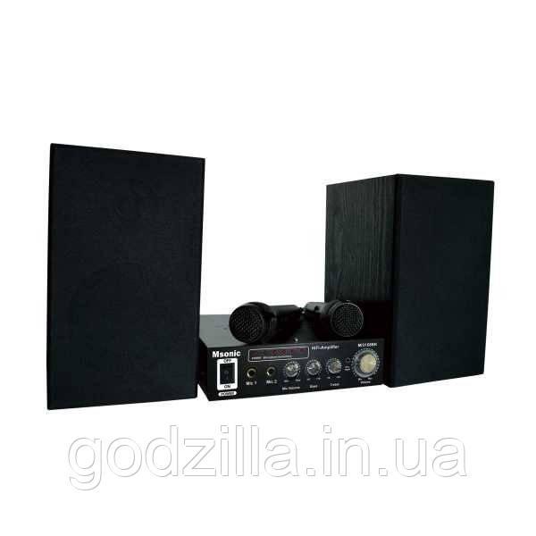 Караоке + стереомікрофони AMP!Комплект!
