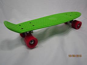 Скейтборд Cкейт Penny Board Салатовый  колёса каучук,мягкие