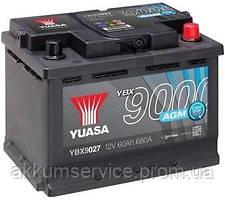 Аккумулятор автомобильный Yuasa AGM 60AH R+ 680А YBX9027