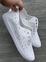 Мокасины женские летние от Гипанис белые, фото 1