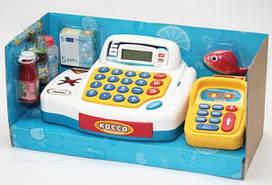 Детский Кассовый аппарат  Мой магазин, 4 игровые функции.