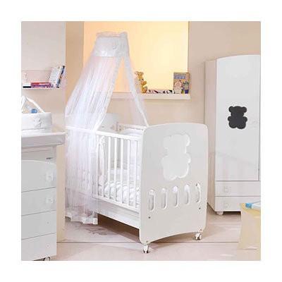 """Кроватка детская 125x65 """"PUFFY"""", цвет белый"""