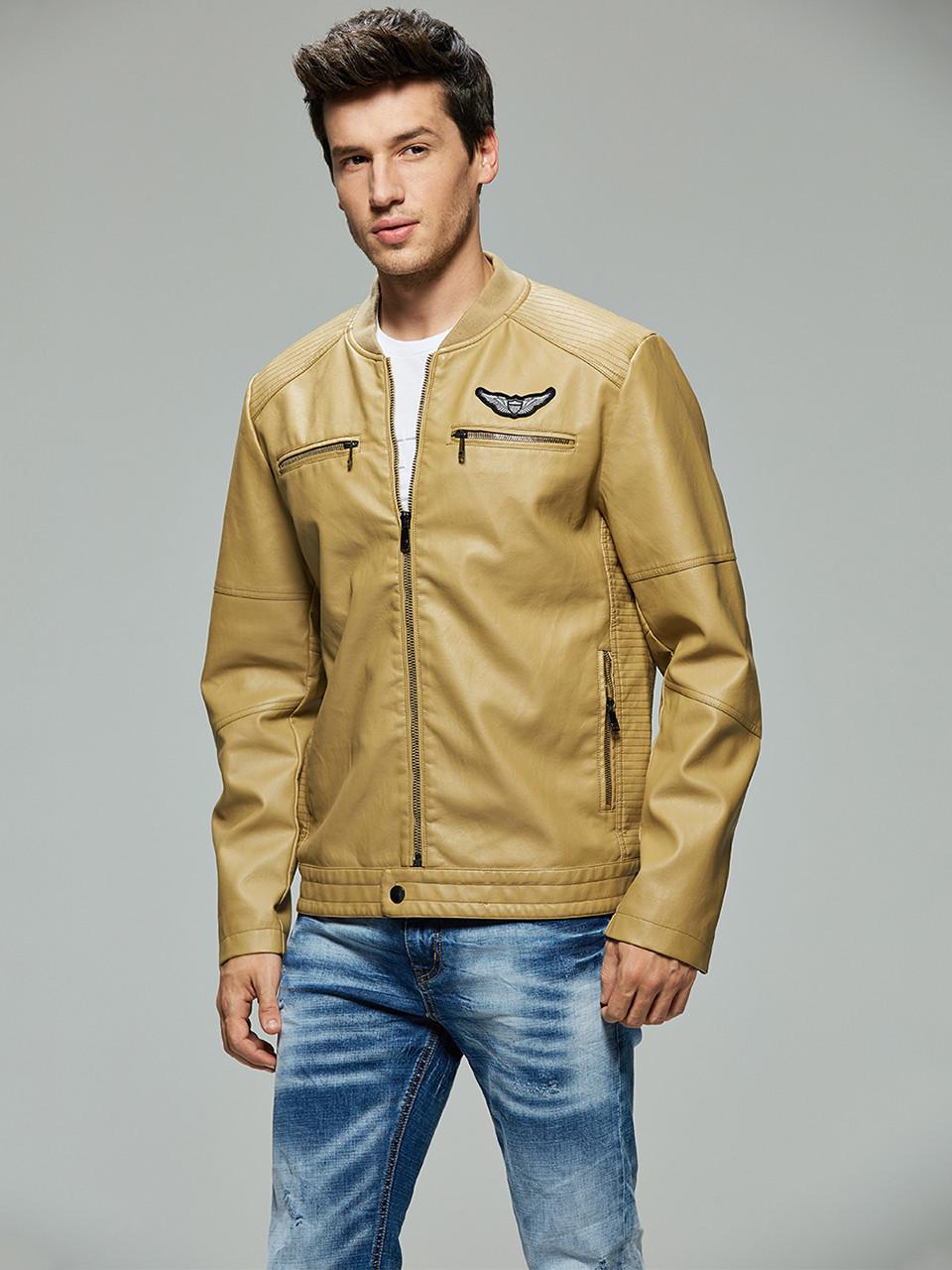 Куртка-бомбер екокожа мужская Glo-Story