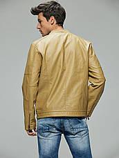 Куртка-бомбер екокожа мужская Glo-Story, фото 3
