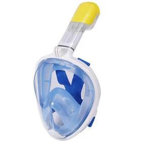 Маска для дайвинга Free Breath L Blue (001419)