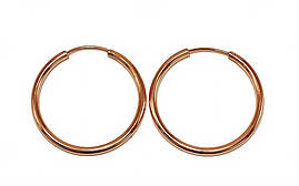 Серьги-кольца гладкие фирмы Xuping.Цвет: позолота с красным оттенком. Диаметр серьги: 3 см. Толщина: 2 мм.