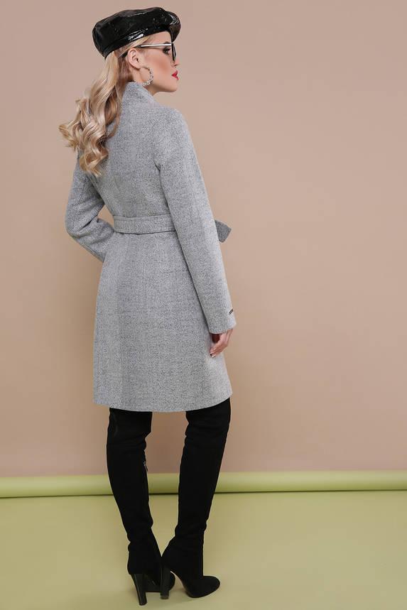 Красивое женское весеннее шерстяное пальто на молнии, фото 2