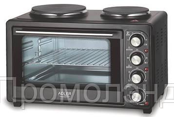 Мини печь электрическая ADLER AD6011 2в1 1600W 34L