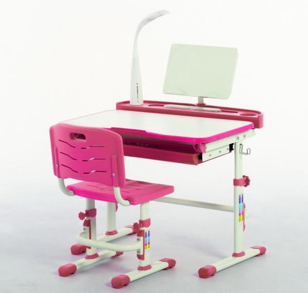 Комплект Парта и стул-трансформеры Funkids М8045pink+Лампа!+Подставка для книг!, фото 1