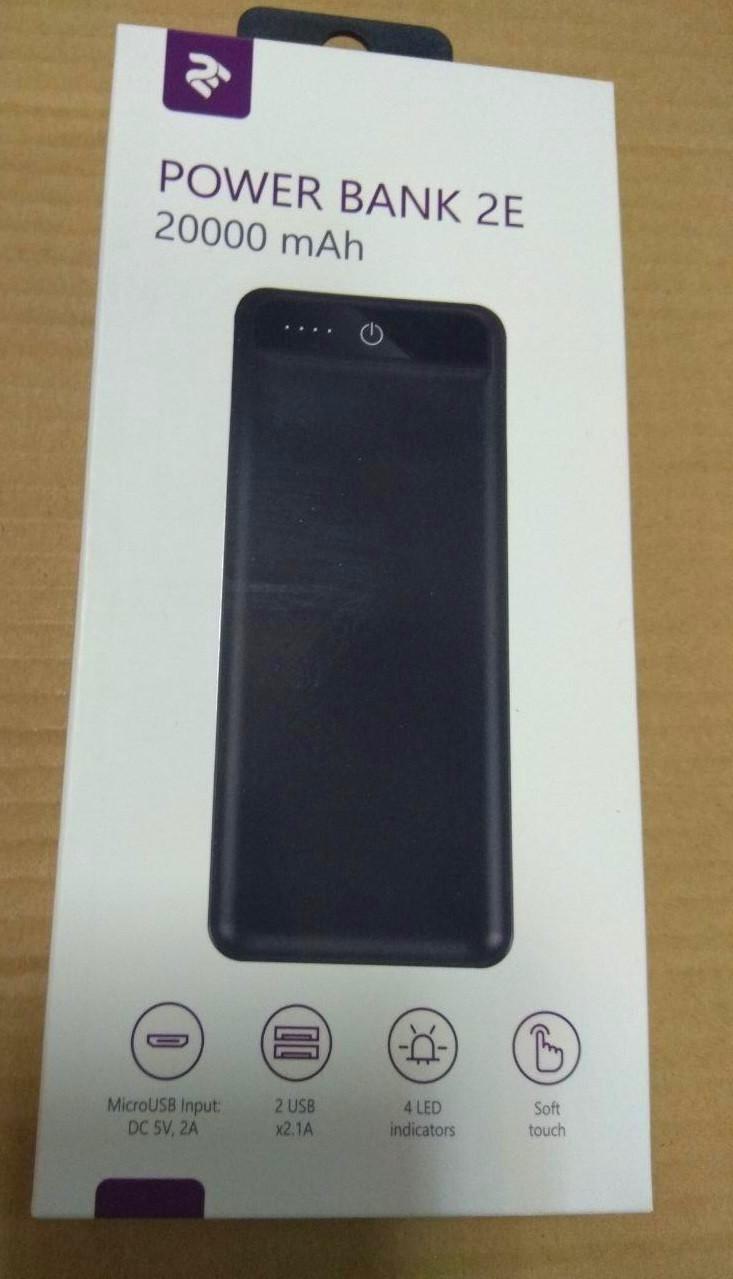 УМБ Power Bank 2E 20000mAh Black Soft Touch Гарантия 12 месяцев