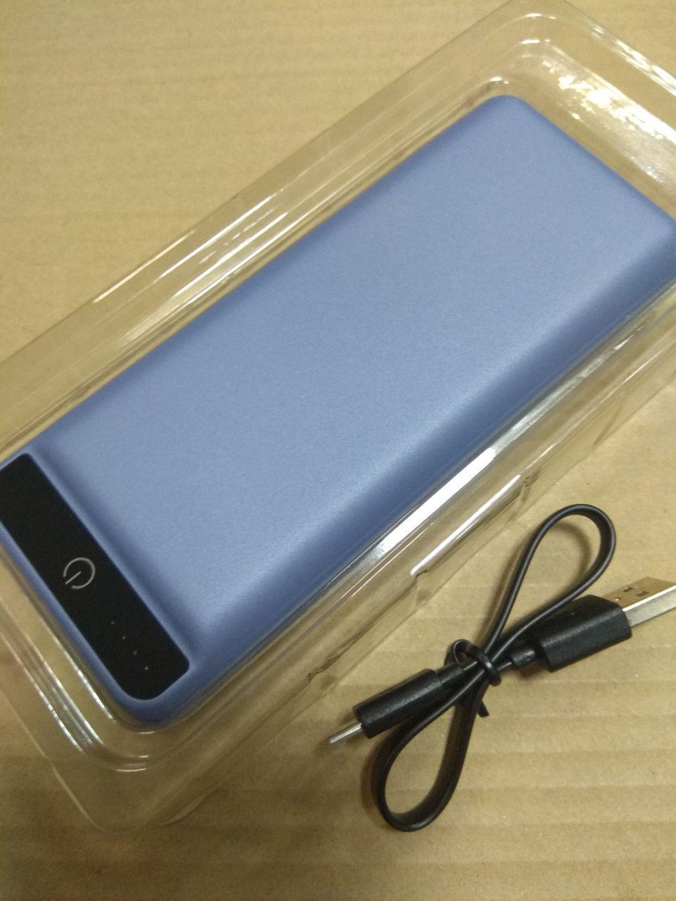 УМБ Power Bank 2E 20000mAh Blue Soft Touch Гарантия 12 месяцев