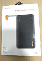 Внешнее зарядное устройство Power Bank Wesdar S15 8000mAh Black, фото 3