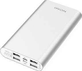 Аккумулятор внешний Power Bank Nomi E150 15000mAh Silver Гарантия 12 месяцев