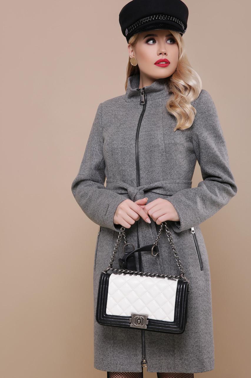 Модное женское шерстяное пальто весна на молнии
