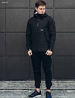 Мужской черный анорак Staff wind black, фото 1