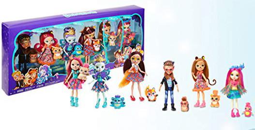 Уценка! Игровой набор Энчантималс из 6 кукол  с питомцами Enchantimals Natural Friends Collection Doll