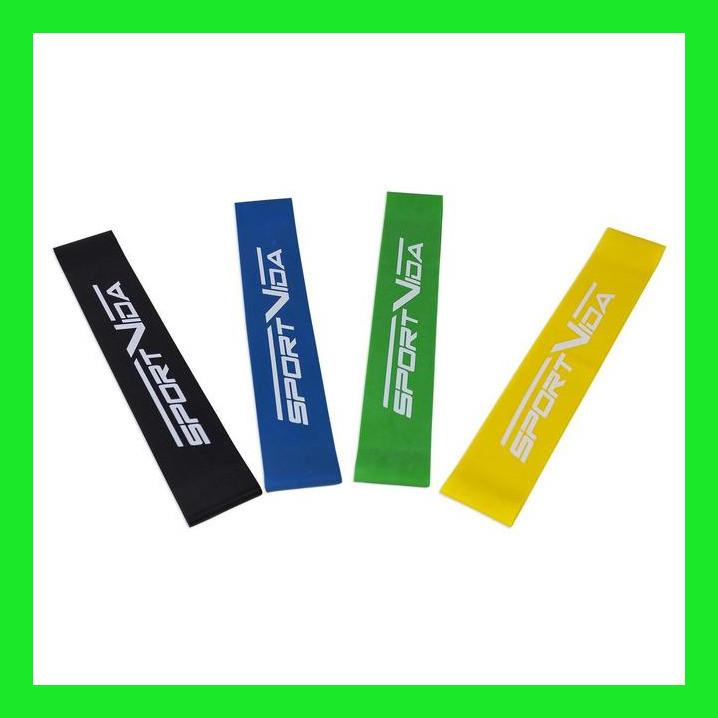 Набор ленточных эспандеров для фитнеса, фитнес-резинки SportVida Mini Power Band, 4 шт