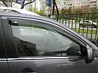Дефлекторы окон ветровики на NISSAN Ниссан PRIMERA (P12) 2002 ТЕМНЫЙ 4 ШТ., фото 2