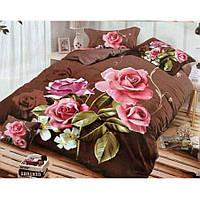 Двуспальное постельное белье Бязь Сатин 5D - Гардения
