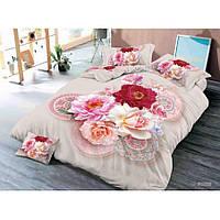 Двуспальное постельное белье Бязь Сатин 5D - Вербена