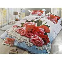 Двуспальное постельное белье Бязь Сатин 5D - Адонис
