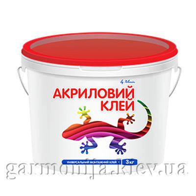 Клей Акриловый универсальный Polimin, 3 кг, фото 2