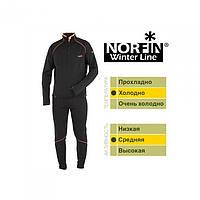 Термобелье мужское, теплое флис Norfin WINTER LINE (черн.1-й,2-й слой)