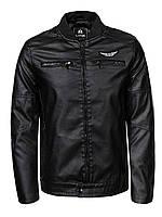 Куртка-бомбер кожаная мужская  M