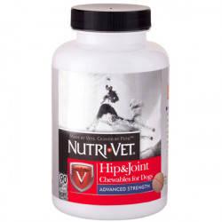 Nutri-Vet Hip&Joint Advanced НУТРІ-ВЕТ ЗВ'ЯЗКИ І СУГЛОБИ АДВАНСТ, 3 рівень, для собак МСМ, 90 табл.