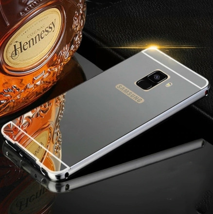 Алюминиевый чехол бампер для Samsung Galaxy A8 (2018)