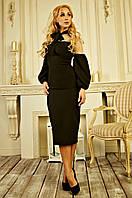 Женское платье-футляр универсального черного цвета размер 42