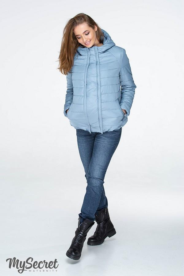 Демисезонная короткая куртка для беременных MARAIS OW-19.011, серо-голубая