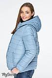 Демисезонная короткая куртка для беременных MARAIS OW-19.011, серо-голубая, фото 3