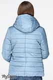 Демисезонная короткая куртка для беременных MARAIS OW-19.011, серо-голубая, фото 4