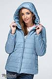 Демисезонная короткая куртка для беременных MARAIS OW-19.011, серо-голубая, фото 6