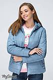 Демисезонная короткая куртка для беременных MARAIS OW-19.011, серо-голубая, фото 5