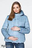 Демисезонная короткая куртка для беременных MARAIS OW-19.011, серо-голубая, фото 2
