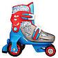 Детские роликовые коньки регулируемые NIJDAM 27-30 три колеса, фото 2