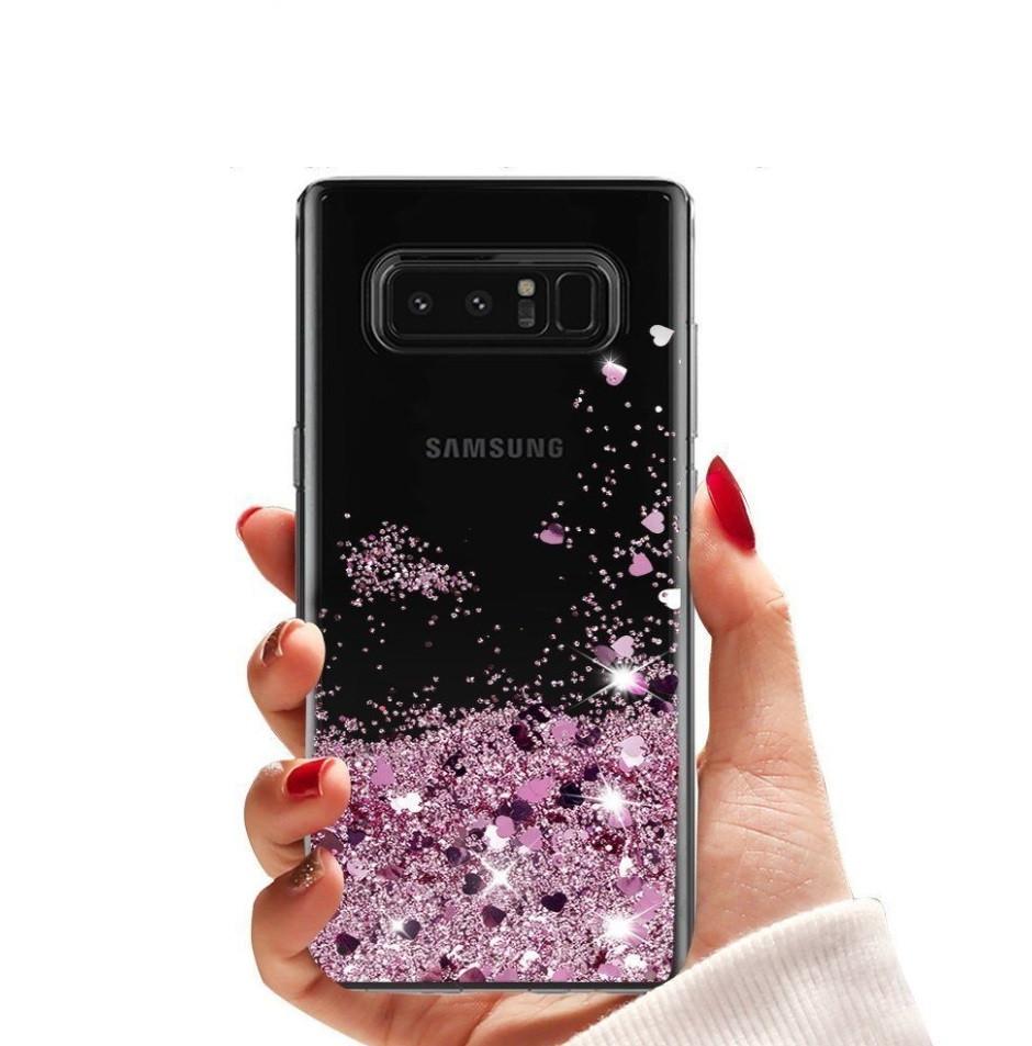 Чехол-накладка (Жидкий Блеск) для Samsung Galaxy J7/J730(2017)