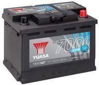 Аккумулятор автомобильный Yuasa EFB 72AH R+ 760А YBX7030