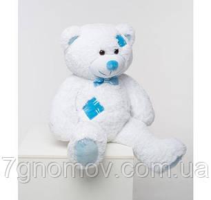 Плюшевый медведь белый с латками 100 см, фото 2