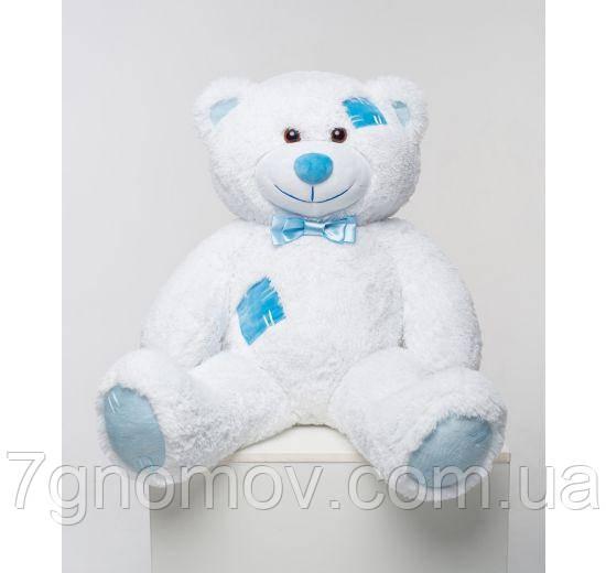 Плюшевый медведь белый с латками 100 см