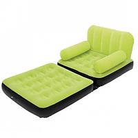 Надувное кресло кровать трансформер Bestway 67277 зеленый