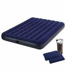 Надувний матрац Intex 68765 з насосом і подушками