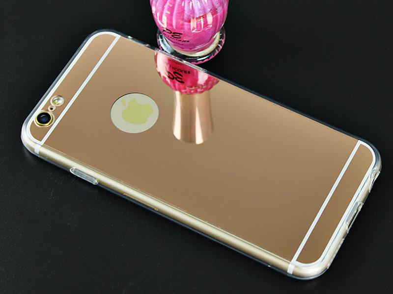 Зеркальный силиконовый чехол  для iPhone 6/6s
