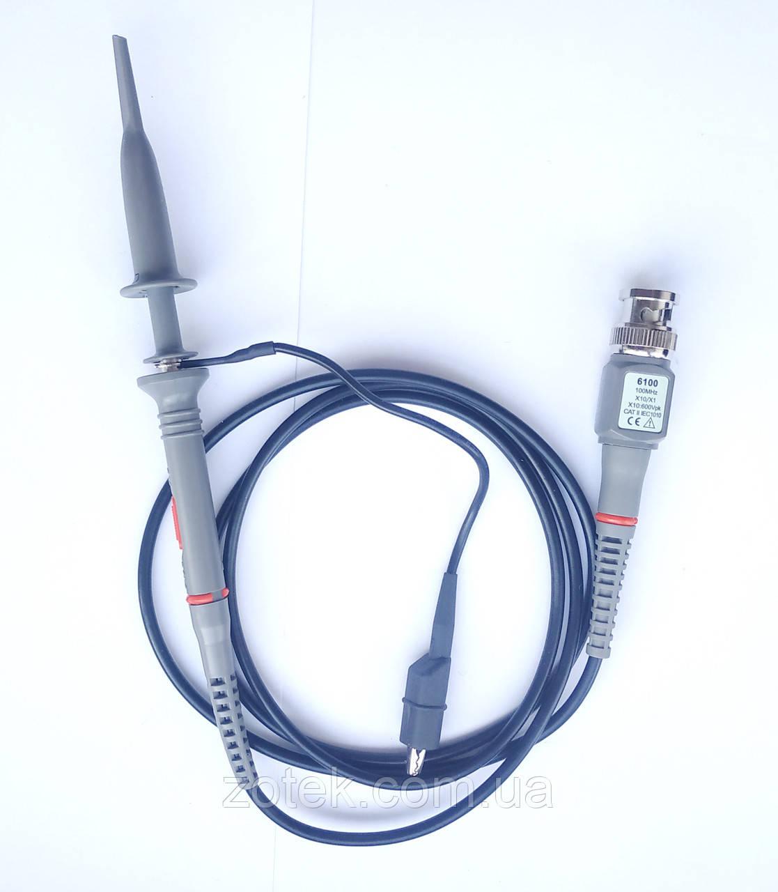 Щуп для осциллографа P6100 100МГц 1x, 10x Пробник для осциллографа