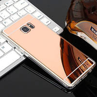 Зеркальный силиконовый чехол для Samsung Galaxy Note 5